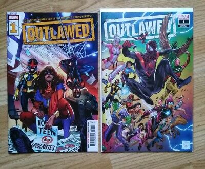 Outlawed #1 Cover A & Variant Wrap Cover, Marvel 2020 Miles Morales • 48.99£