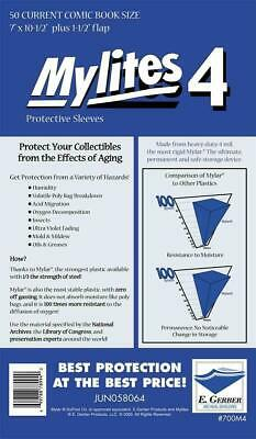 Mylites 4  Protective Sleeves  Pack Of 50 Current Comic Size (e. Gerber) • 30.99£