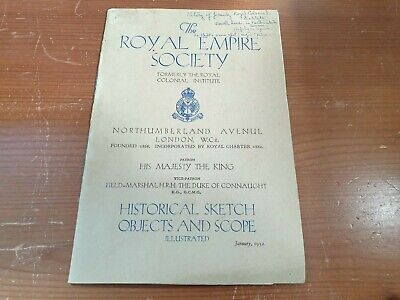 Vintage 1932 Royal Empire Now Commonwealth Society Booklet Colonial Institute • 10.99£