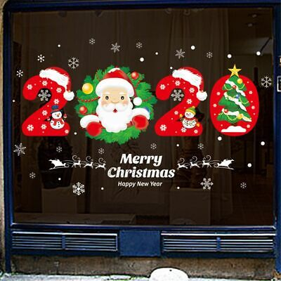 Christmas Wall Window Stickers Self Adhesive Glass Decals Santa Claus Home Decor • 5.15£