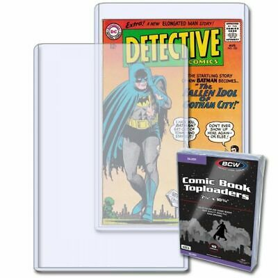 COMIC TOPLOAD HOLDER X 10 SILVER AGE (BCW) • 23.99£