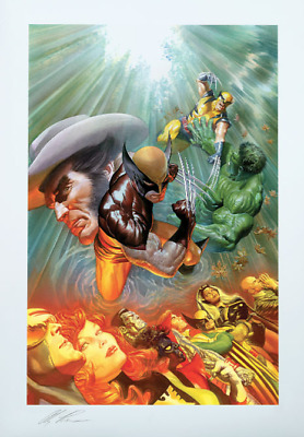 SOLD OUT Alex Ross Signed Death Of Wolverine Sideshow EXC Art Print X-Men Hulk • 214.57£