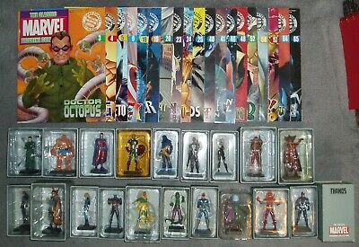 EAGLEMOSS THE CLASSIC MARVEL FIGURINE COLLECTION 20 Lead Figures + Magazines • 30£