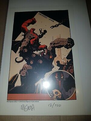 Set Of 6 Hellboy SDCC & Wondercon Limited Edition Signed Numbered Prints Mignola • 200£