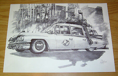 Ghostbusters Ecto-1 Original Art - Art Commissioned By 88MPH • 772.25£