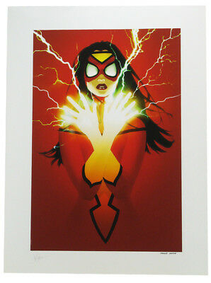 Sideshow Collectibles Spider-Woman Premium Art Print Lithograph Marvel Sample • 193.03£