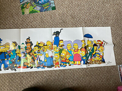 Very Large Simpsons Poster Free Package And Postage • 3.95£