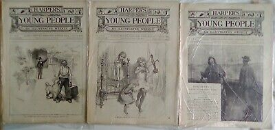 Harper's Young People 19 Issues From 1889. Very Good Condition. Disbound. • 14.95£
