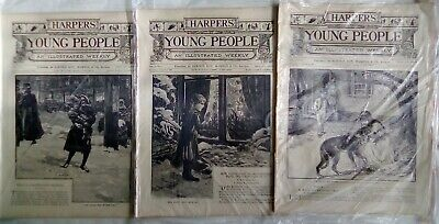 Harper's Young People 21 Issues From 1889. Very Good Condition. Disbound. • 14.95£