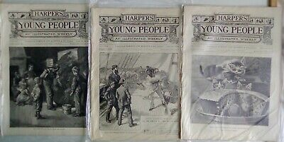 Harper's Young People 18 Issues From 1889. Very Good Condition. Disbound. • 14.95£