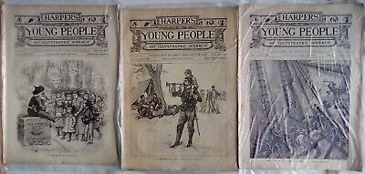 Harper's Young People 20 Issues From 1888-1889. Very Good Condition. Disbound. • 14.95£