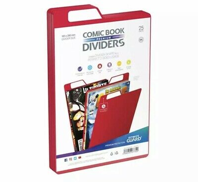 Ultimate Guard Premium Comic Book Dividers | Red | Pack Of 25 Storage Filing • 11£