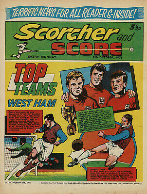 Scorcher And Score - 9 October 1971 - England - N. Ireland - Rochdale - Chelsea  • 0.99£