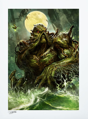 Swamp Thing Sideshow Exclusive DC Comic LE Art Print SIGNED Dave Wilkins #79/250 • 164.50£