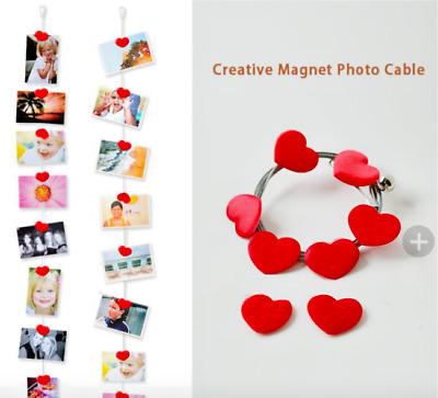 Modern Magnetic Photo Frame For Hanging Wall Art Photo Album Kraft Picture Rope • 3.91£