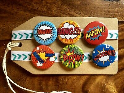 Comic Book / Cartoon - Pin Badge Set • 4.99£