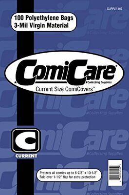 100 Comicare Current Age Size Polyethylene Bags (3-mil) • 9.79£