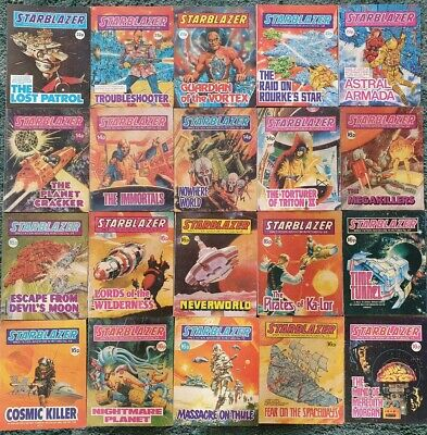 20 X Starblazer Space Fiction Adventure In Pictures Comics Collection Job Lot,1 • 29.95£