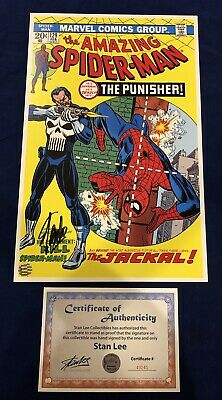 Amazing Spider-Man 129 Litho Signed By Stan Lee With COA John Romita Art LIMITED • 140.15£