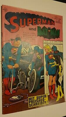 Supermann Nr.1 Von 1969,Zst.1-2,Ehapa,Comic,Superhelden,Sammlung,Vintage • 40.80£