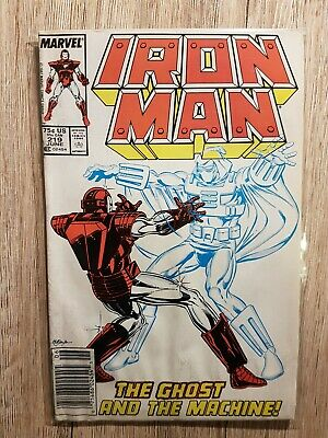 IRON MAN #219 /1 App Ghost Marvel Comic • 25.75£