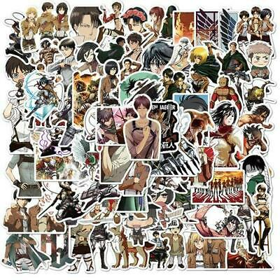 100Pcs/Set Attack On Titan Anime Sticker Cartoon Sticker For Skateboard Motorcyc • 12.15£