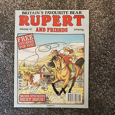 Vintage Rupert And Friends Comic Magazine 11th July 1992 No 18 • 4.99£