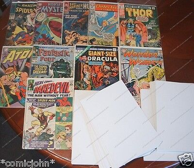 BULK PURCHASE OF 1000 X COMIC BACKING BOARDS. SILVER AGE SIZE (SIZE C) • 69.99£