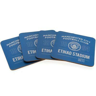 Manchester City FC 4pk Coaster Set • 7.11£
