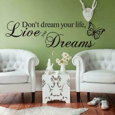 Proverbs Wall Stickers Note Paper-dye Inspirational Quote Wall Bedroom J4D5 • 2.32£