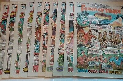 FUNDAY TIMES COMICS  No's 231 To 240  INTELLIGENT COD   GOOD VINTAGE CONDITION • 4£