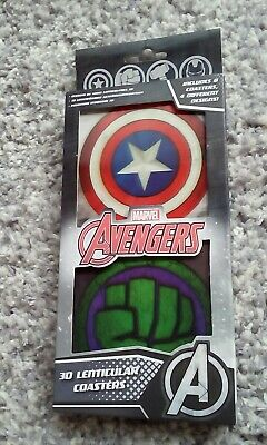 Avengers Marvel Coasters 3D Set Of 8 • 2.49£