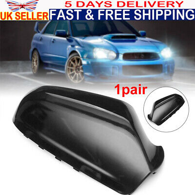 Gloss Black Door Wing Mirror Cover Cap Casing For Vauxhall Astra H MK5 2004-2009 • 19.99£
