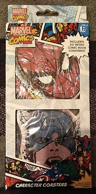 Brand New, Great Gift. Marvel Comics, Character Coasters, 20 Pack • 6£
